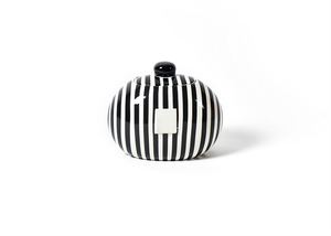 HAPPY EVERYTHING BLACK STRIPE MINI COOKIE JAR, Happy Everything - A. Dodson's