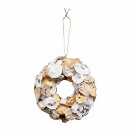 GOLD OYSTER ORNAMENTS