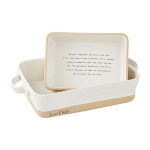 STONEWARE BAKER SET OF 2