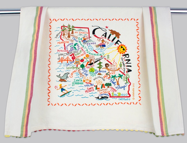 CALIFORNIA DISH TOWEL BY CATSTUDIO Catstudio Home Spring - A. Dodson's
