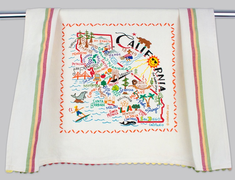 CALIFORNIA DISH TOWEL BY CATSTUDIO, Catstudio - A. Dodson's