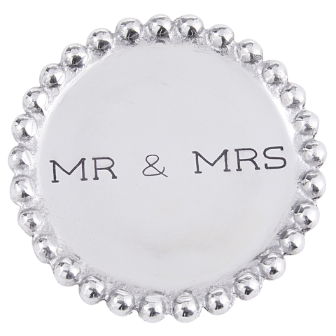 MR & MRS BEADED COASTER SET