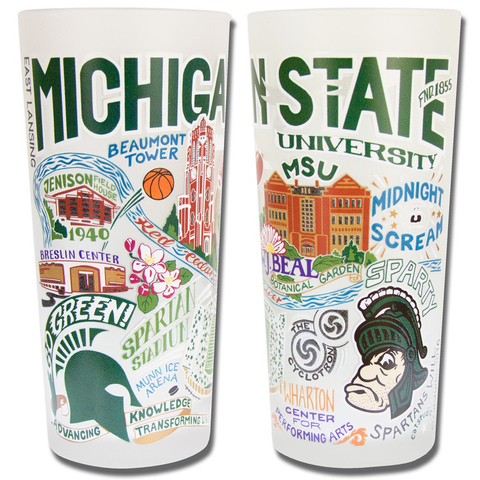 MICHIGAN STATE UNIVERSITY GLASS BY CATSTUDIO