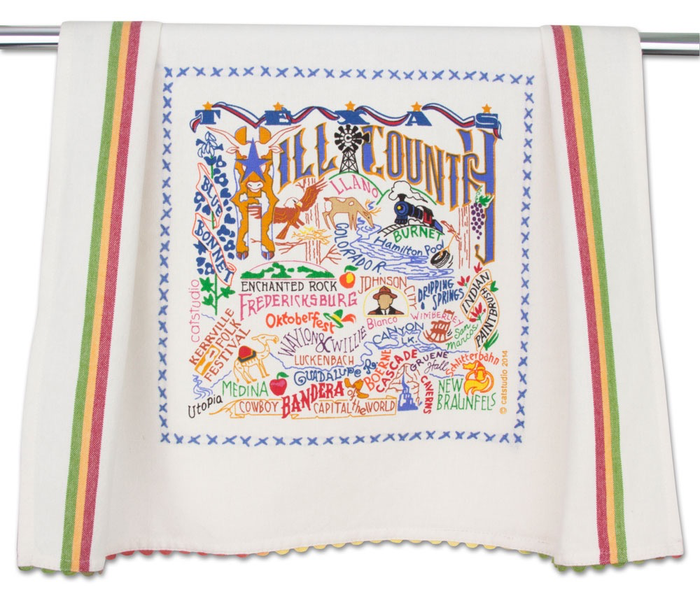 HILL COUNTRY DISH TOWEL BY CATSTUDIO