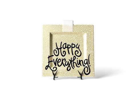 HAPPY EVERYTHING GOLD SMALL DOT BIG SQUARE PLATTER, Happy Everything - A. Dodson's