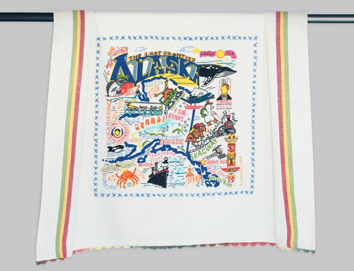 ALASKA DISH TOWEL BY CATSTUDIO
