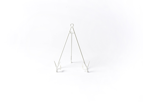 HAPPY EVERYTHING MEDIUM FLARE PLATE STAND WHITE