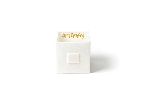 HAPPY EVERYTHING WHITE SMALL DOT MINI NESTING CUBE MEDIUM, Happy Everything - A. Dodson's