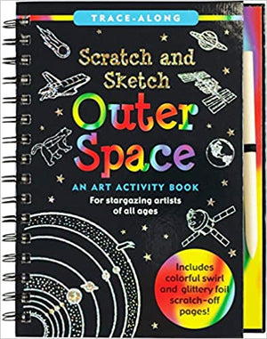 SCRATCH & SKETCH OUTER SPACE TRACE ALONG