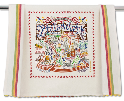 PHILADELPHIA DISH TOWEL BY CATSTUDIO