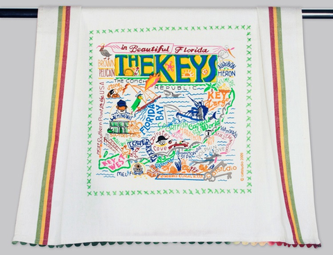 FLORIDA KEYS DISH TOWEL BY CATSTUDIO