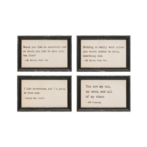 WOOD WALL DECOR WITH QUOTES