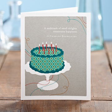 A MULTITUDE OF SMALL DELIGHTS BIRTHDAY CARD