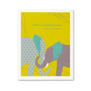I EMBRACE YOU WITH ALL MY HEART FRIENDSHIP CARD