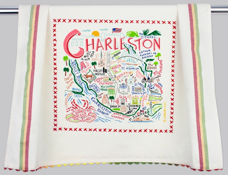 CHARLESTON DISH TOWEL BY CATSTUDIO, Catstudio - A. Dodson's