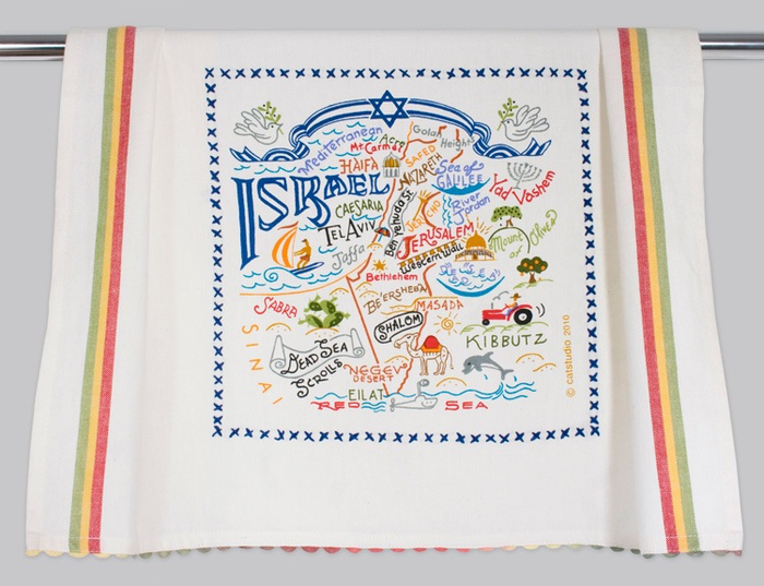 ISRAEL DISH TOWEL BY CATSTUDIO