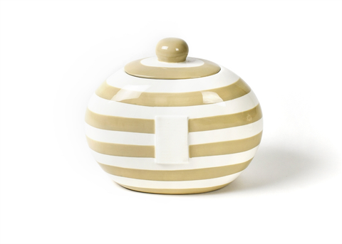 HAPPY EVERYTHING NEUTRAL STRIPE BIG COOKIE JAR Happy Everything - A. Dodson's