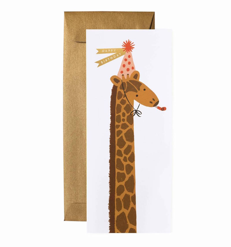 BIRTHDAY GIRAFFE CARD, Rifle Paper Co - A. Dodson's