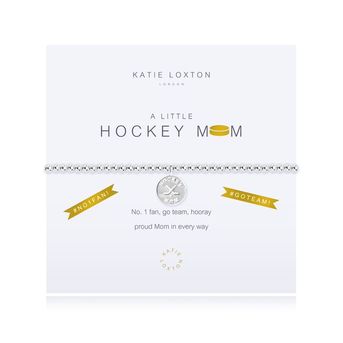 A LITTLE HOCKEY MOM STRETCH BRACELET