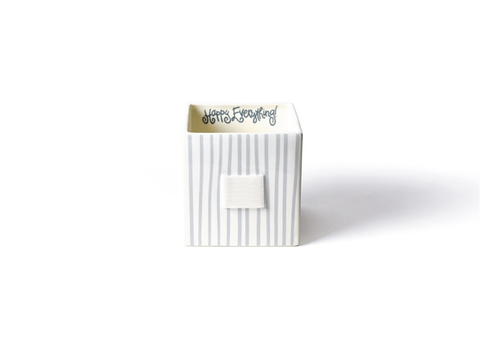 HAPPY EVERYTHING STONE STRIPE MINI NESTING CUBE MEDIUM, Happy Everything - A. Dodson's