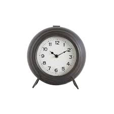 METAL MANTEL CLOCK - BLACK
