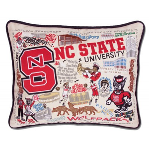 NORTH CAROLINA STATE UNIVERSITY PILLOW BY CATSTUDIO, Catstudio - A. Dodson's