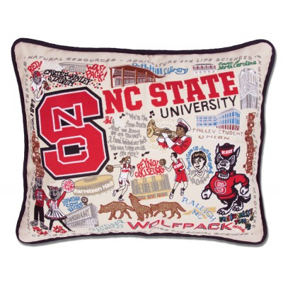 NORTH CAROLINA STATE UNIVERSITY PILLOW BY CATSTUDIO
