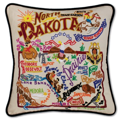 NORTH DAKOTA PILLOW BY CATSTUDIO
