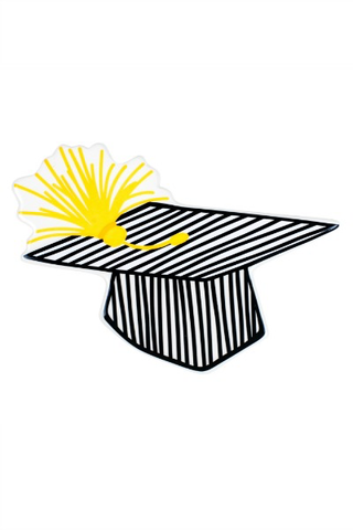 HAPPY EVERYTHING STRIPED GRADUATION CAP MINI {product_vendor} - A. Dodson's