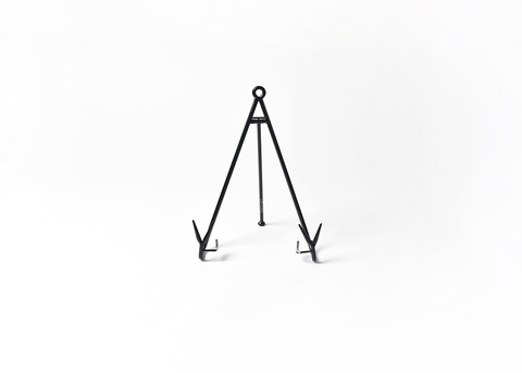 HAPPY EVERYTHING LARGE FLARE PLATE STAND BLK, Happy Everything - A. Dodson's