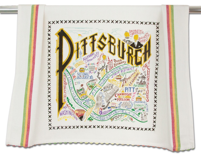PITTSBURGH DISH TOWEL BY CATSTUDIO