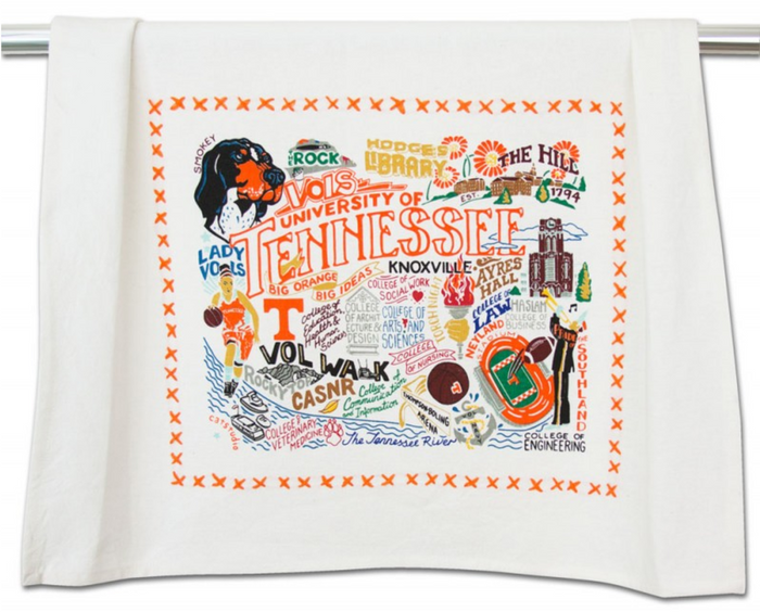 UNIVERSITY OF TENNESSEE DISH TOWEL BY CATSTUDIO