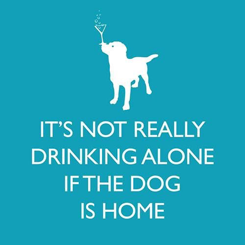 IF THE DOG IS HOME BEVERAGE NAPKIN, Paper Products Design - A. Dodson's