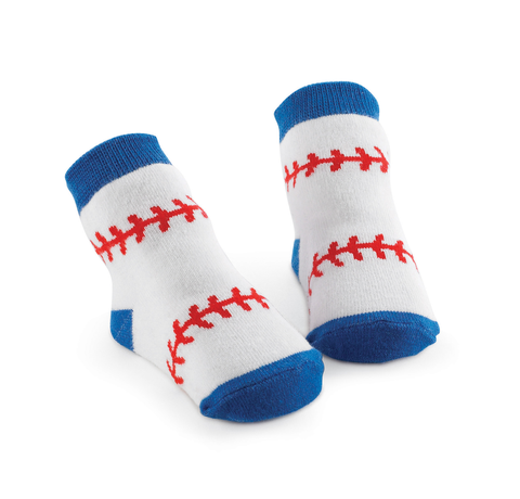 BASEBALL BABY SOCK by Mud Pie
