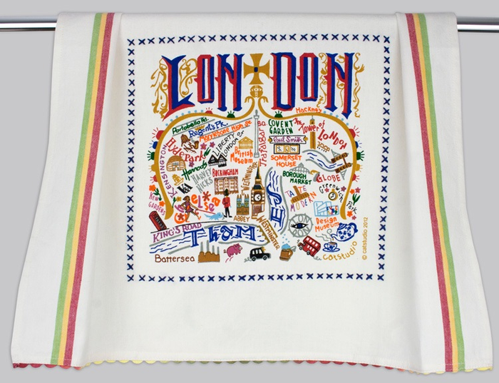 LONDON DISH TOWEL BY CATSTUDIO