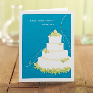 LIFE IS A SHARED EXPERIENCE CARD CARD, Green Greeting by COMPENDIUM - A. Dodson's