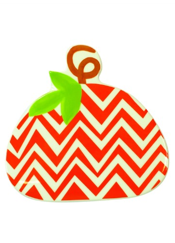 HAPPY EVERYTHING CHEVRON PUMPKIN MINI ATTACHMENT - A. Dodson's