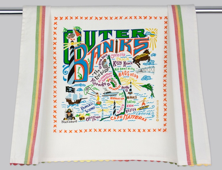 OUTER BANKS DISH TOWEL BY CATSTUDIO, Catstudio - A. Dodson's