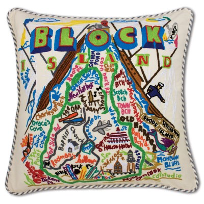 BLOCK ISLAND PILLOW BY CATSTUDIO