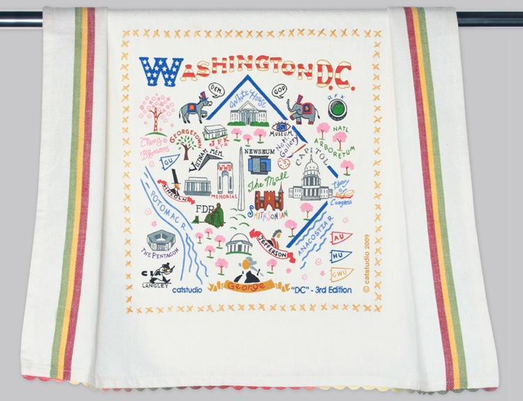 WASHINGTON DC DISH TOWEL BY CATSTUDIO, Catstudio - A. Dodson's