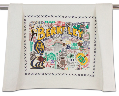 UNIVERSITY OF CA BERKELEY DISH TOWEL BY CATSTUDIO