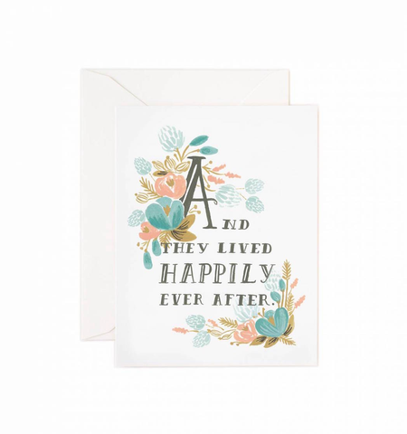 HAPPILY EVER AFTER CARD, Rifle Paper Co - A. Dodson's