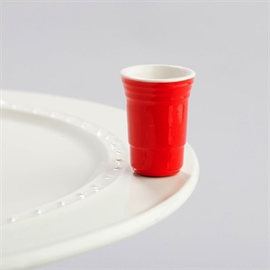 NORA FLEMING FILL ME UP RED SOLO CUP MINI A144 Nora Fleming - A. Dodson's