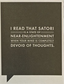 I READ THAT SATORI BIRTHDAY CARD, Frank Funny by COMPENDIUM - A. Dodson's