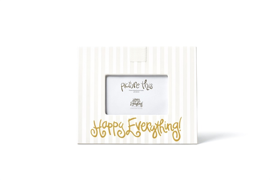 HAPPY EVERYTHING WHITE STRIPE MINI FRAME