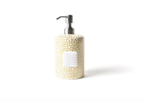 HAPPY EVERYTHING GOLD SMALL DOT MINI CYLINDER SOAP PUMP, Happy Everything - A. Dodson's