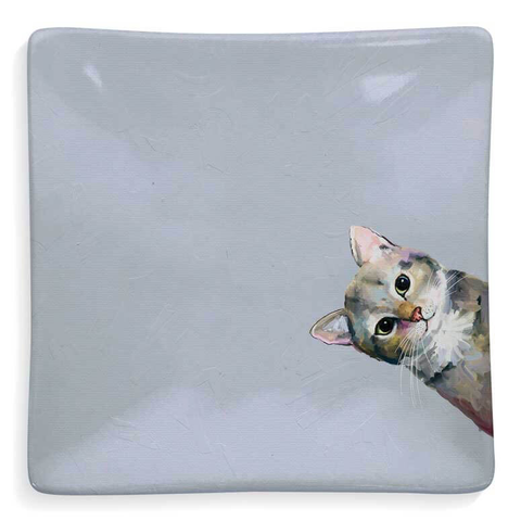 FELINE FRIENDS - SNEAKY CAT SERVEWARE DISH BY CATHY WALTERS, Greenbox Art - A. Dodson's
