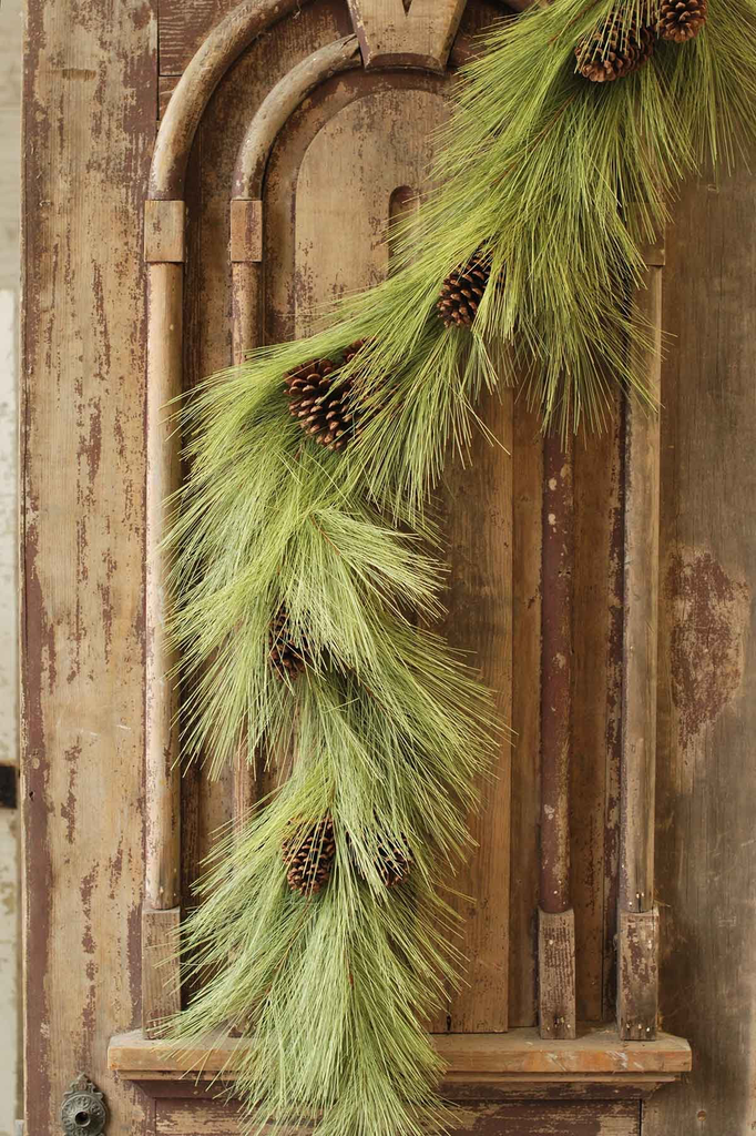 LONG NEEDLE PINE GARLAND WITH CONES, Lancster - A. Dodson's