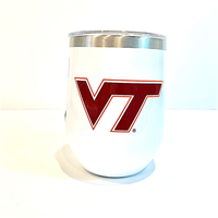 12oz GLOSS WHITE - VIRGINIA TECH VT - BIG LOGO STEMLESS CORKCICLE, CORKCICLE - A. Dodson's