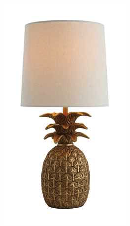 RESIN PINEAPPLE LAMP, Creative Co-op - A. Dodson's